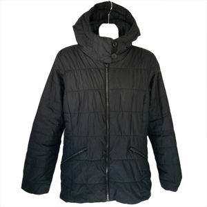 Columbia Thermal Coil Black Hooded Puffer Jacket